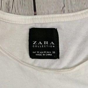 Zara Tops - Zara Cream & Black Short Sleeve Tee